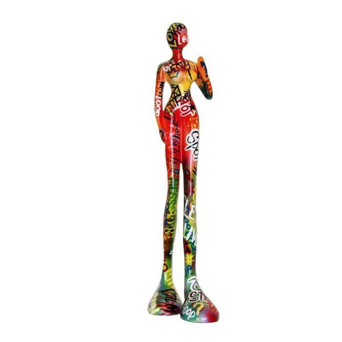 Grande statue de femme en résine, art moderne pour décoration