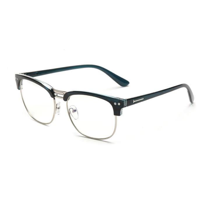 77c4c479b59 optiques Monture de lunettes myopie cadre Hommes et femmes eyeglasses  TCadre en argent +bleu