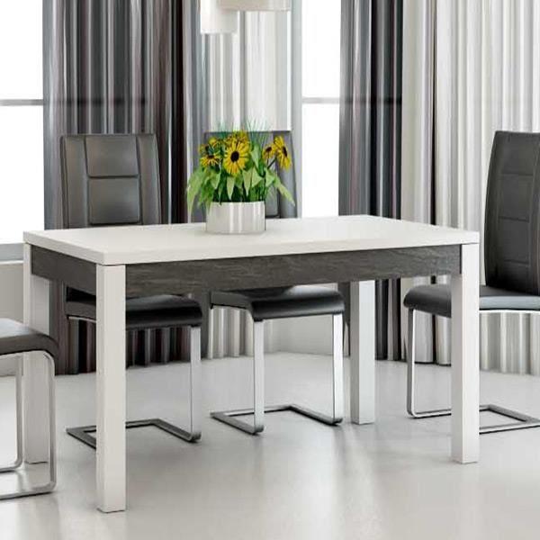 Table 190 Cm A Manger Laque Blanc
