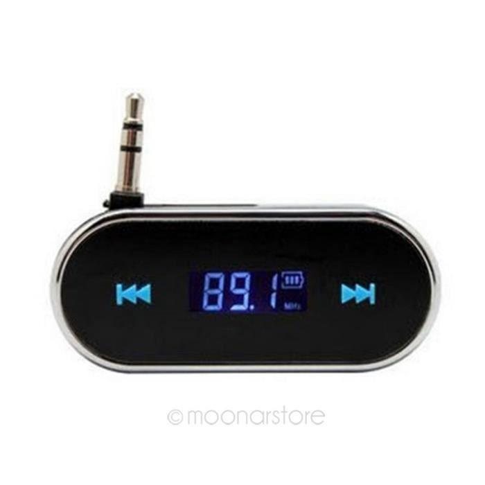 Transmetteur FM de Voiture USB 3.5mm Audio Noir