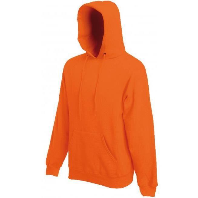 358b7a276e72d Sweat Capuche Orange Uni mixte Homme-Femme.SC244C.Fruit of the Lom ...