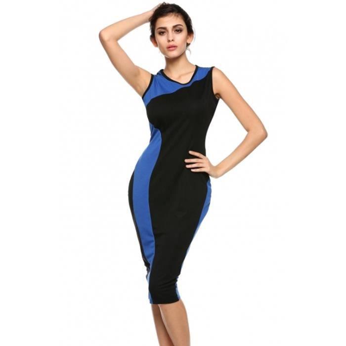 Vêtements femme robe Slim de géométrie Vintage ...