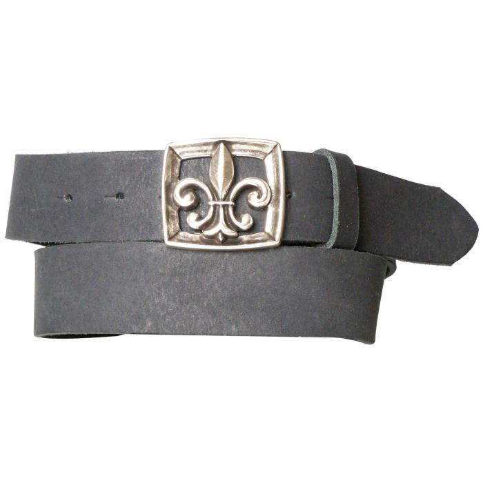 ceinture-femme-cuir-fleur-de-lys-boucle-