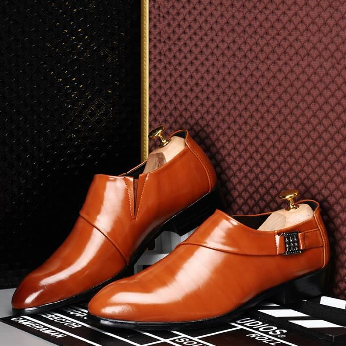 Homme Cuir Mocassin Chaussures Formel Flats