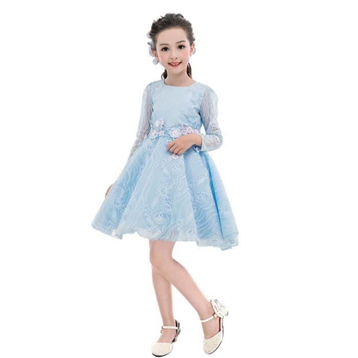 58fb8ecc01776 Robe de soirée Pour enfant Princesse Party Anniversaire Bleu clair ...