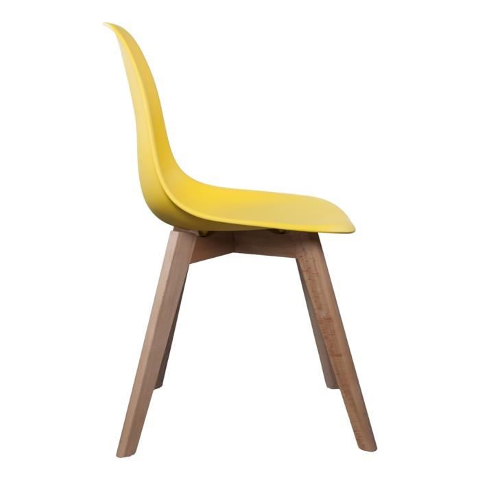 chaise scandinave jaune achat vente chaise jaune cdiscount. Black Bedroom Furniture Sets. Home Design Ideas