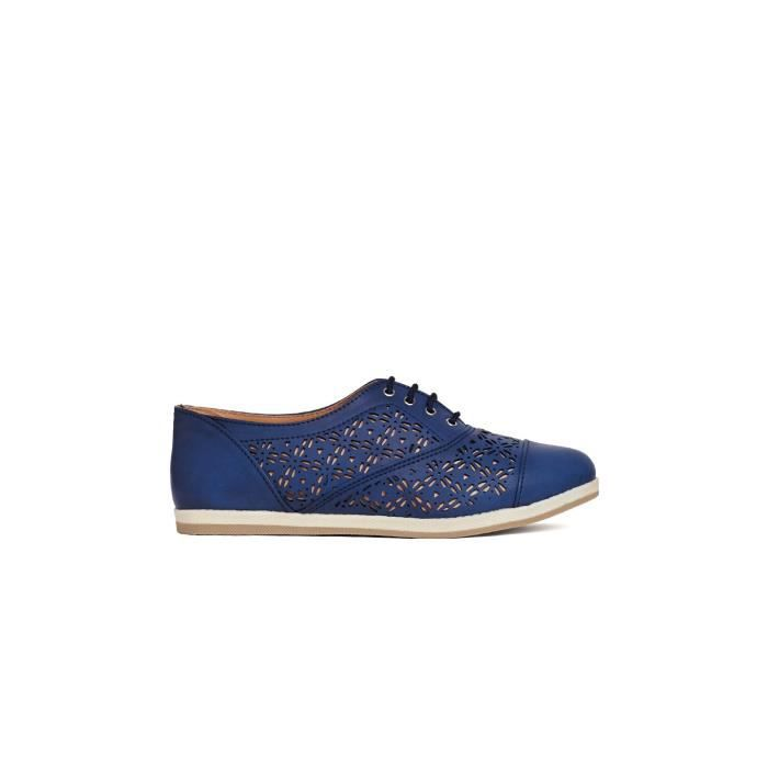 femmes bleu laser coupe solide bout rond à lacets up derby chaussures casual HX8LX Taille-41
