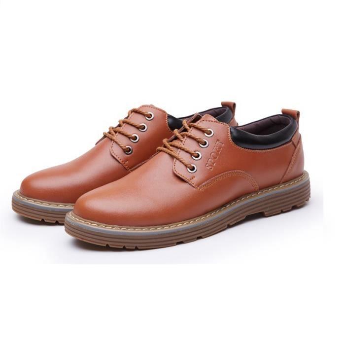 Chaussures Hommes Cuir Respirant mode Homme chaussure de ville BLLT-XZ200Jaune38
