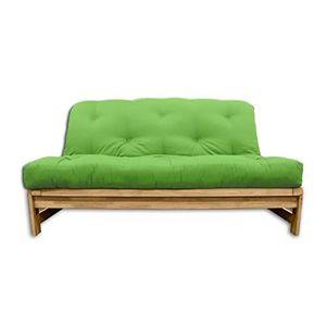 CANAPÉ - SOFA - DIVAN Canapé lit A-Frame, futon vert-pomme, 140x105x30 c