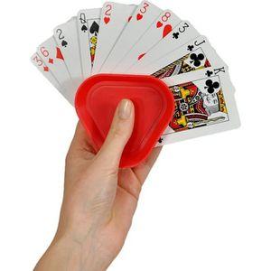 JEU SOCIÉTÉ - PLATEAU Porte cartes à jouer - Lot de 4 Multicolore