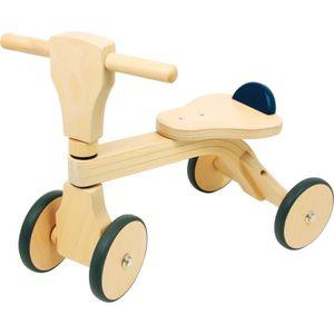 PORTEUR - POUSSEUR tricycle en bois de Hêtre vélo porteur pour enfant