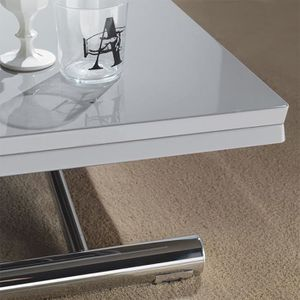 TABLE BASSE Table basse relevable effet bois vieilli ADELFO  O