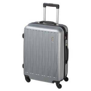 VALISE - BAGAGE CASINO Valise trolley ABS - 65cm - 4 roues - Gris