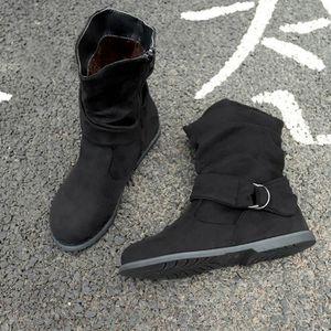 BOTTE Deuxsuns®Vintage Style Femmes plat Chaussures bott