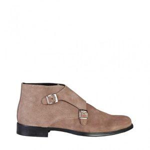 59bce15558f26 CEINTURE ET BOUCLE Pierre Cardin Brun Chaussures classiques Nouveau