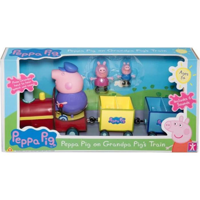 PEPPA PIG Train + 3 personnages