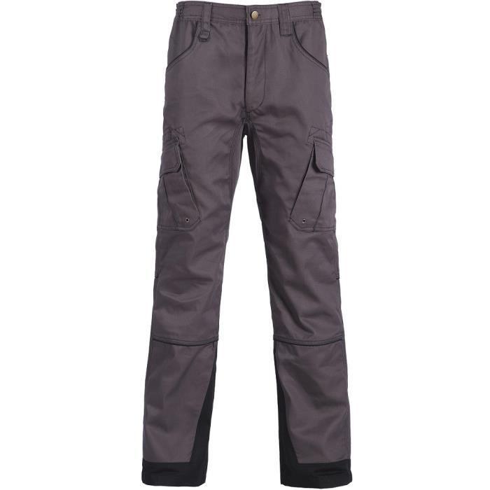 NORTH WAYS Pantalon de travail Antras - Mixte - Gris / Noir
