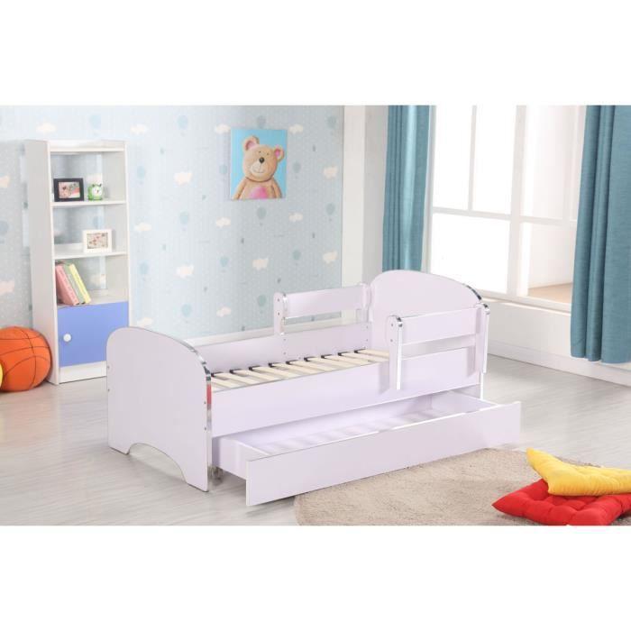 lit complet lit enfant avec barrire anti chutes et sommier - Lit Enfant Avec Tiroir