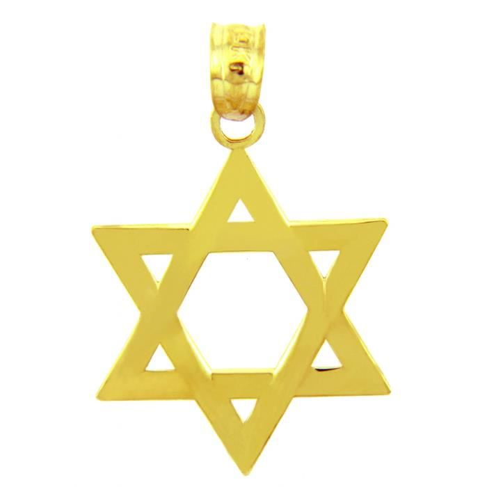 Collier Pendentif14 ct 585/1000 Charm JuiveOr 14 ct 585/1000 Classique Étoile de David