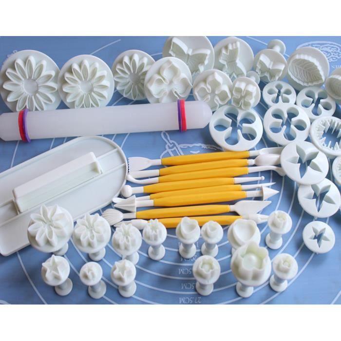 demarkt ensemble de 46pcs kit de décoration et modelage de gâteaux