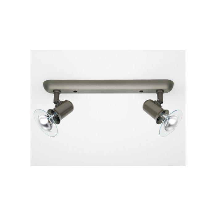 Plafonnier à 2 lumières PUCK -2x40W E14 -ACIER - BRILLIANT - 36429_13