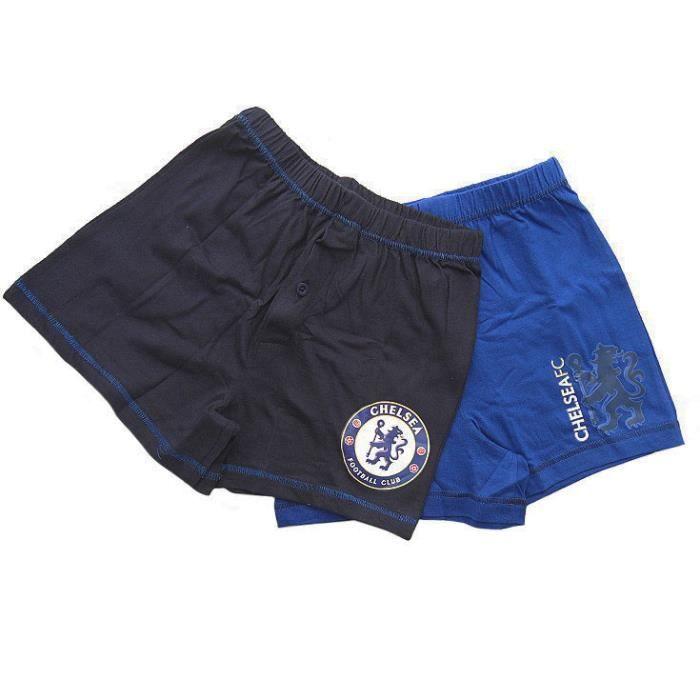 Caleçon Boxer Chelsea F.C. Lot de 2 en Coton Garçon Noir   bleu ... 96bced6c281
