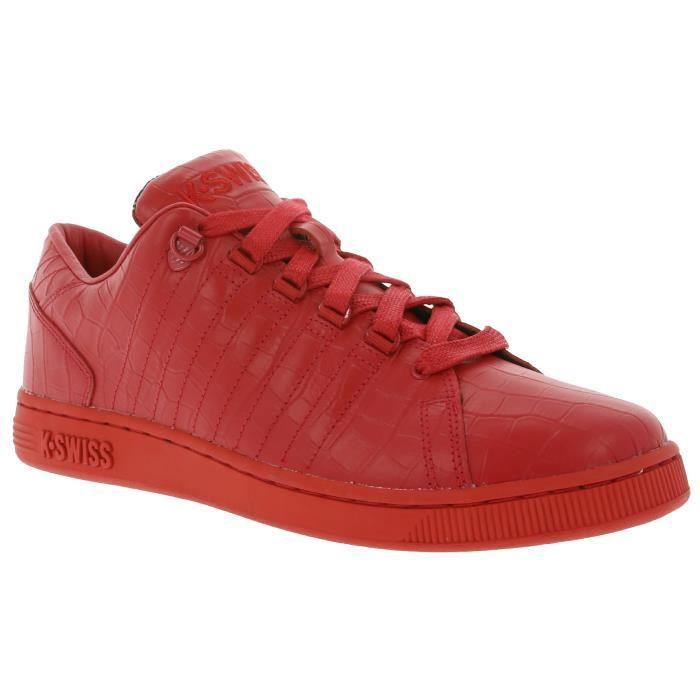 K-SWISS Lozan III TT Croco Sneaker Homme Rouge 05359-639-M