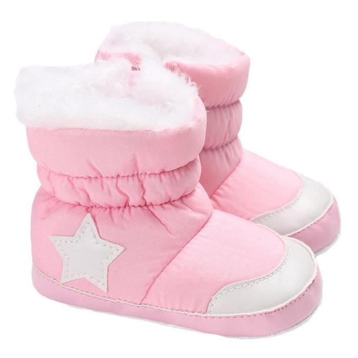 EOZY Chaussons Bébé Enfant Fille Garçon Boots Pantoufle et Velours Hiver
