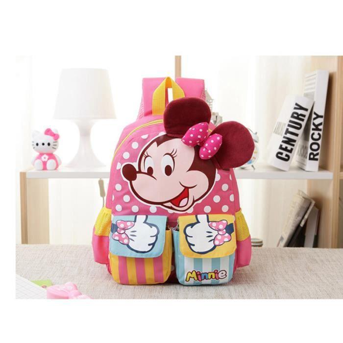Rose Minnie Cartoon enfants jouets en peluche sac à dos cadeaux pour enfants de la maternelle Cartable bébé sacs étudiants