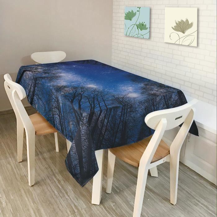 nappe de table rectangulaire 84 * 60 po anti-poussière en
