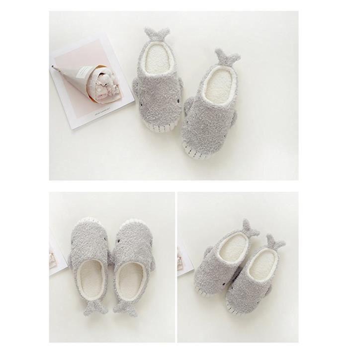 Peluche Pantoufles Femmes Ours Mignon Chaussons Hiver Chaud House Anti-dérapant Slippers Shoes XHypW4l