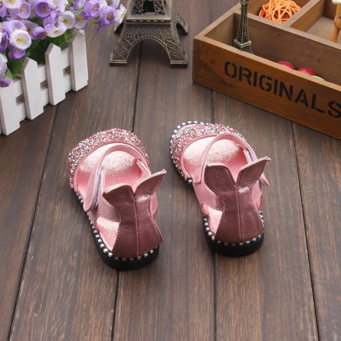 Chaussures sandales filles enfants creux croûte épaisse chaussures romaine chaussures de princesse de la mode Eb6G3