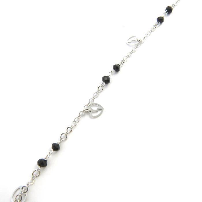 Altesse [M5880] - Bracelet argent Love noir argenté