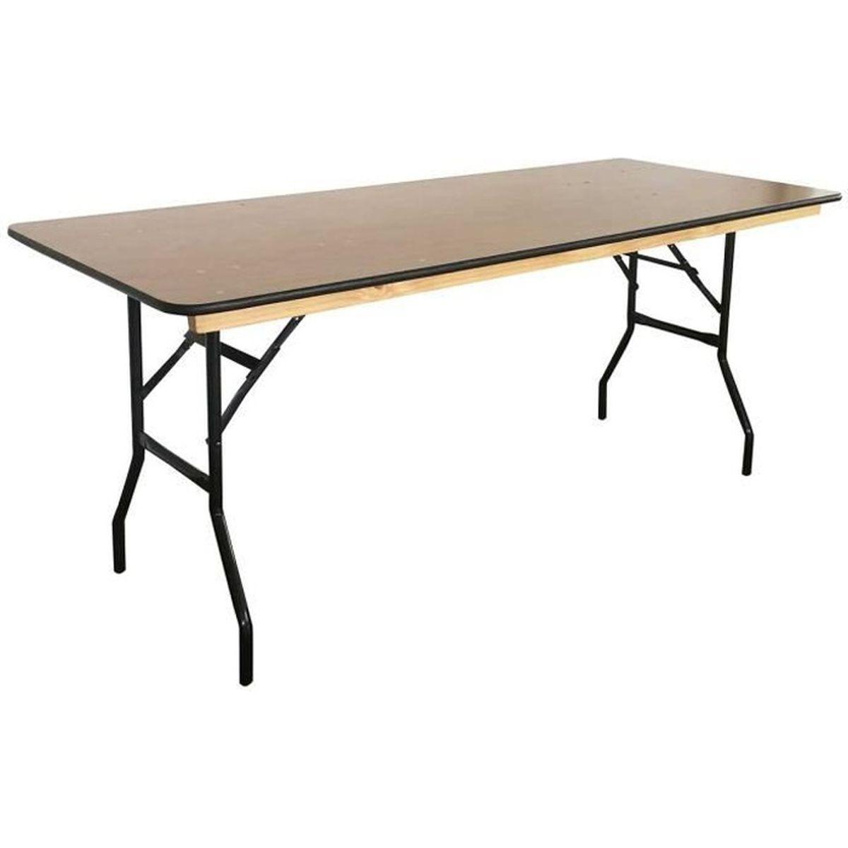 table pliante en bois 180cm achat vente table de jardin table pliante 180 cm en bois cdiscount. Black Bedroom Furniture Sets. Home Design Ideas