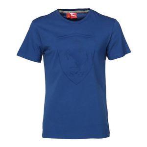 PUMA T-shirt Ferrari Shield Manches courtes - Homme - Bleu