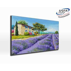 TABLEAU - TOILE Lavande maison peinture toile impression photo pan
