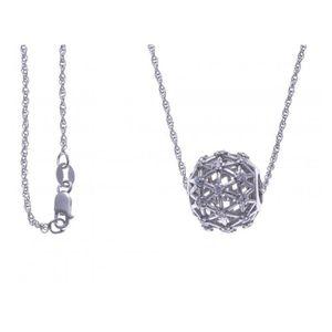 c95add998c2 SAUTOIR ET COLLIER Collier argent rhodié - boule - zircons - 60cm G