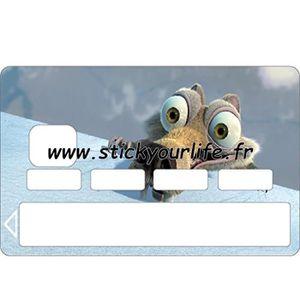 Carte Bancaire Age.Scrat Sticker Autocollant Carte Bleue Bancaire Age De Glace