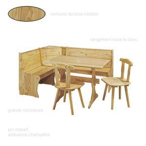 Petite table de cuisine et chaises achat vente pas cher - Table de cuisine avec banc ...