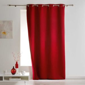 RIDEAU Rideau Occultant isolant 140x260 Rouge 140 X 260