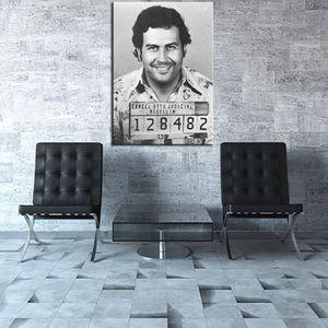 TABLEAU - TOILE Home Décor Peinture à l'huile Pablo Escobar Mug Sh