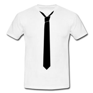 T-SHIRT Déguisement Cravate Imprimée T-shirt Homme de Spre