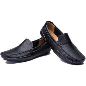 Hommes Décontractée Conduite Bateau Chaussures Carré dans le Doux Cuir  Calecon Sur Flaneurs Mocassins 81ccc37c103