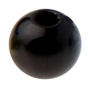 Perles Perle noire avec perforation (x50) REF/3923