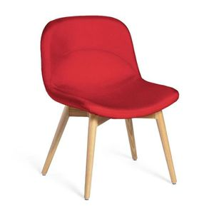 chaise chaise basse tissu mandarine negan l 54 x l 60 - Chaise Basse