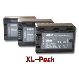 BATTERIE APPAREIL PHOTO 3 batteries de secours pour Panasonic HC-V10, HC-V