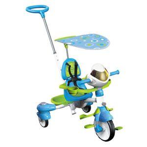 PORTEUR - POUSSEUR VTECH Super Tricycle Interactif 6 En 1 Bleu