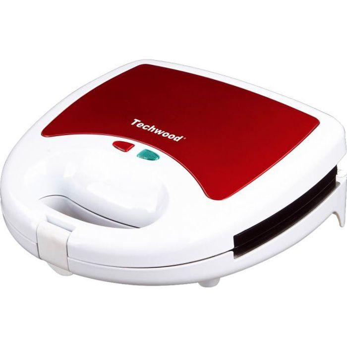 TECHWOOD TGCI-805 Gaufrier électrique - Rouge et Blanc