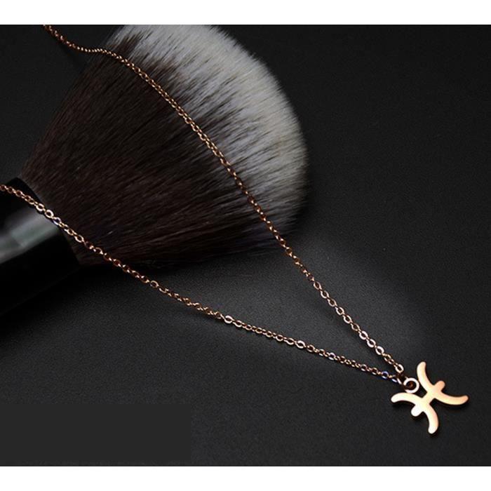 Collier femme constellation colliers Poissons acier au titane bijoux