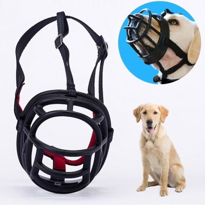 (#92) Dog Muzzle Prevent Biting Chewing And Barking Allows Drinking Panting, Size: 8.8*8.4*11cm(black)